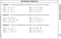 wann quadratische ergänzung